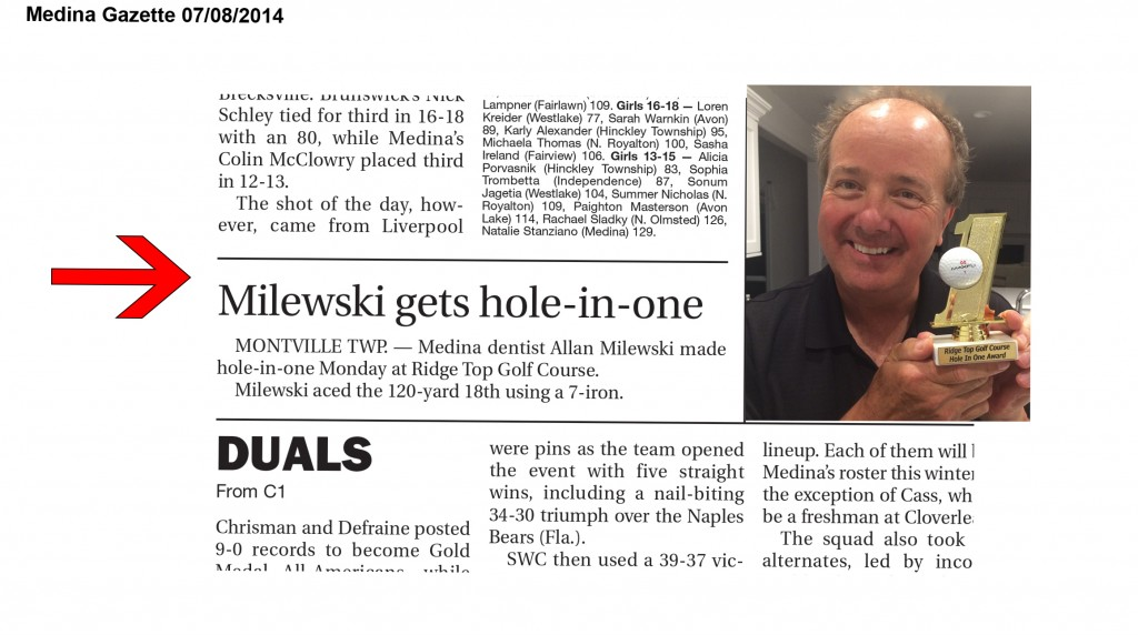 MedinaGazette Dr Milewski hole in one ! (3)