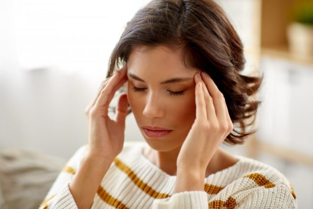 Woman with chronic stress