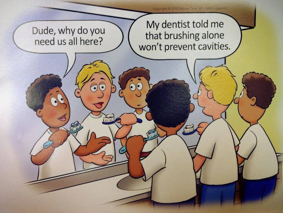 my dentist told me brushing alone